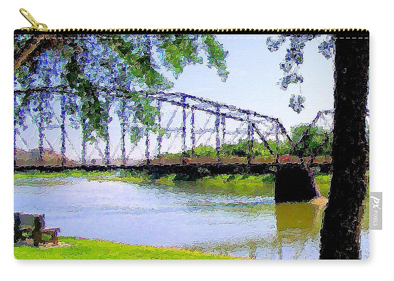 Fort Benton Carry-all Pouch featuring the photograph Sitting In Fort Benton by Susan Kinney
