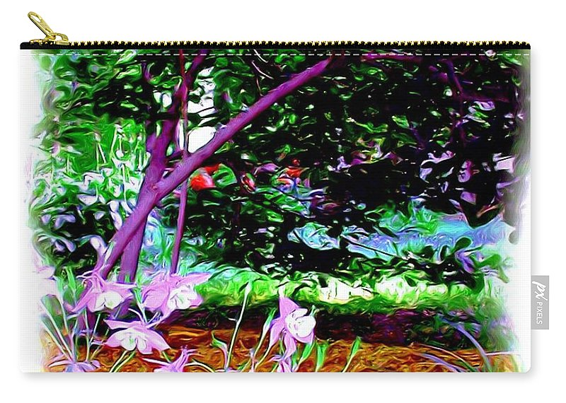 Fine Art Carry-all Pouch featuring the painting Sitting In The Shade by Patricia Griffin Brett