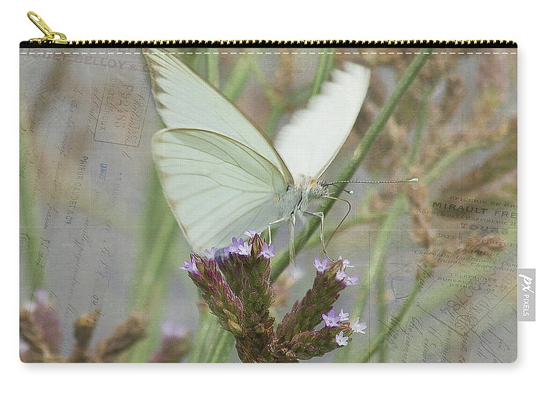 Butterfly Carry-all Pouch featuring the photograph Sitting Pretty, Cabbage White Butterfly by TN Fairey