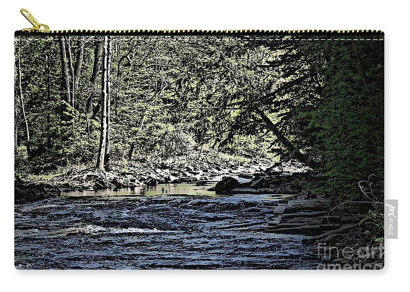 Landscape Carry-all Pouch featuring the photograph Six Mile Creek Ithaca Ny by David Lane
