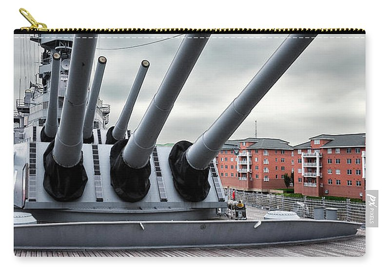 Uss Wisconsin Carry-all Pouch featuring the photograph Six Pack Of Sixteens by Christopher Holmes