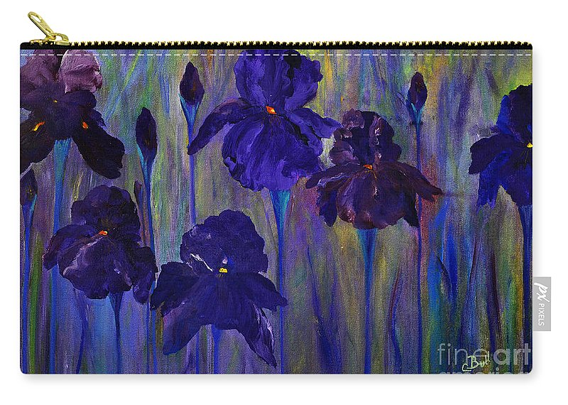 Flowers Carry-all Pouch featuring the painting Six Siberians by Claire Bull
