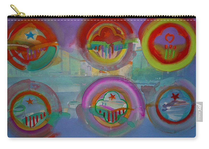 Landscape Carry-all Pouch featuring the painting Six Visions Of Heaven by Charles Stuart