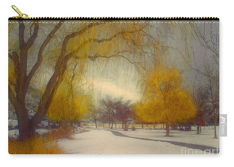 Path Carry-all Pouch featuring the photograph Skaha Path In Winter by Tara Turner