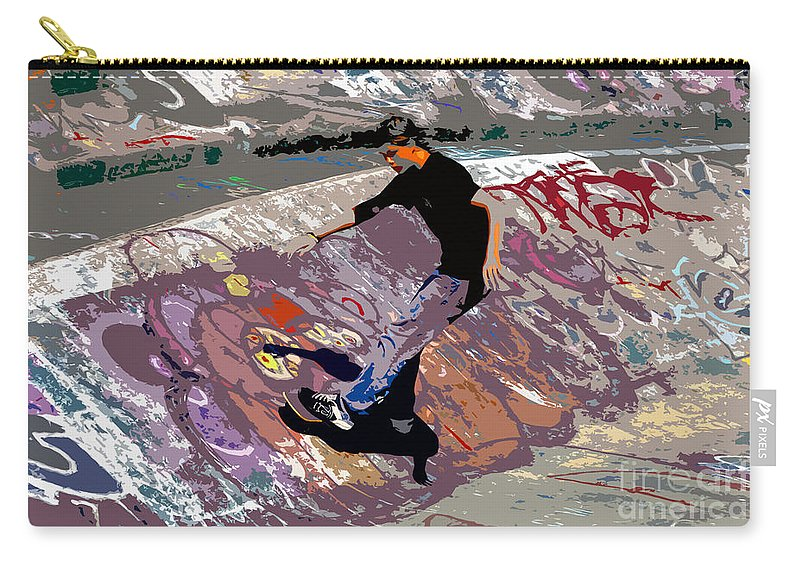 Skate Park Carry-all Pouch featuring the photograph Skate Park by David Lee Thompson