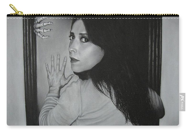 Woman Carry-all Pouch featuring the painting Skeleton In The Closet by Lynet McDonald