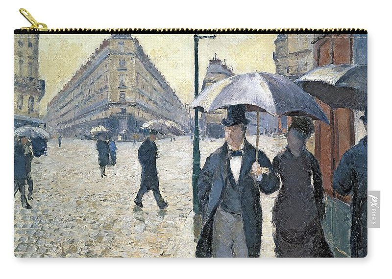 Gustave Carry-all Pouch featuring the painting Sketch For Paris A Rainy Day by Gustave Caillebotte
