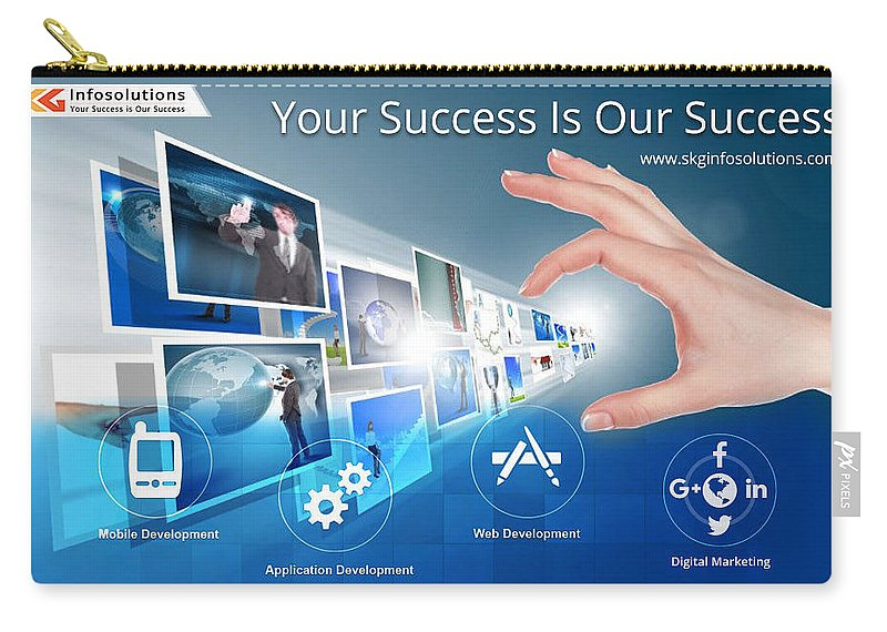 Web Designing Services Carry-all Pouch featuring the digital art Skginfosolutions-web Design And Development by SKGInfosolutions