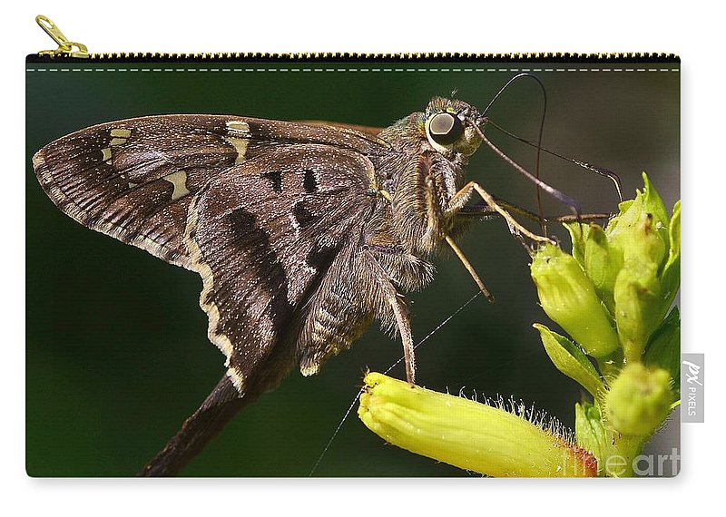 Butterfly Carry-all Pouch featuring the photograph Skipper Delight by Lisa Renee Ludlum