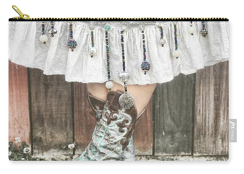 Sharon Popek Carry-all Pouch featuring the photograph Skirts And Dangles by Sharon Popek