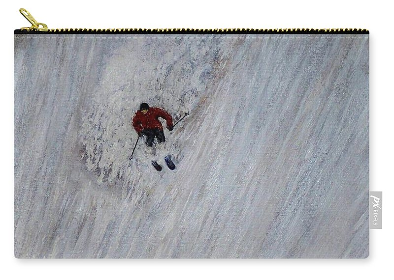 Landscape Carry-all Pouch featuring the painting Skitilthend by Michael Cuozzo