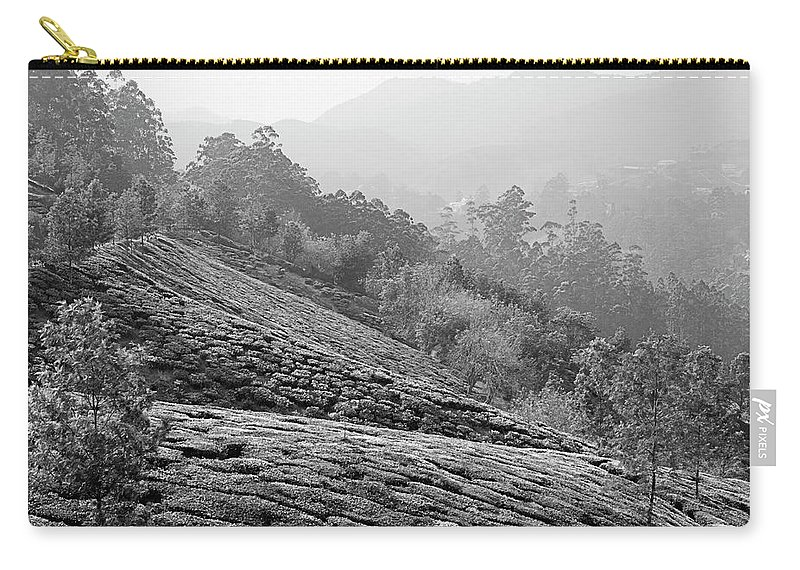 Asia Carry-all Pouch featuring the photograph Skn 6521 Nature's Bounty B/w by Sunil Kapadia