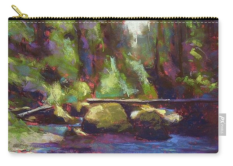 Landscape Carry-all Pouch featuring the painting Skokomish River by Mary McInnis