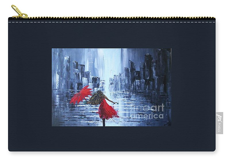 Cityscape Carry-all Pouch featuring the painting Skukura by Rosalie Rodriguez