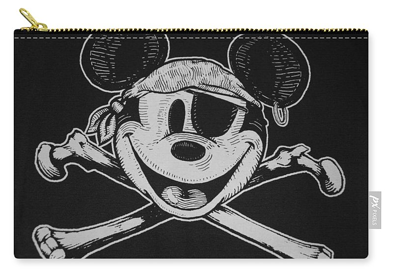Walt Disney World Carry-all Pouch featuring the photograph Skull And Bones Mickey by Rob Hans