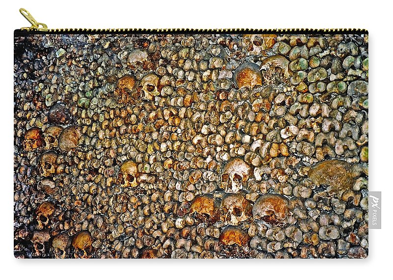 Skulls Carry-all Pouch featuring the photograph Skulls And Bones Under Paris by Juergen Weiss