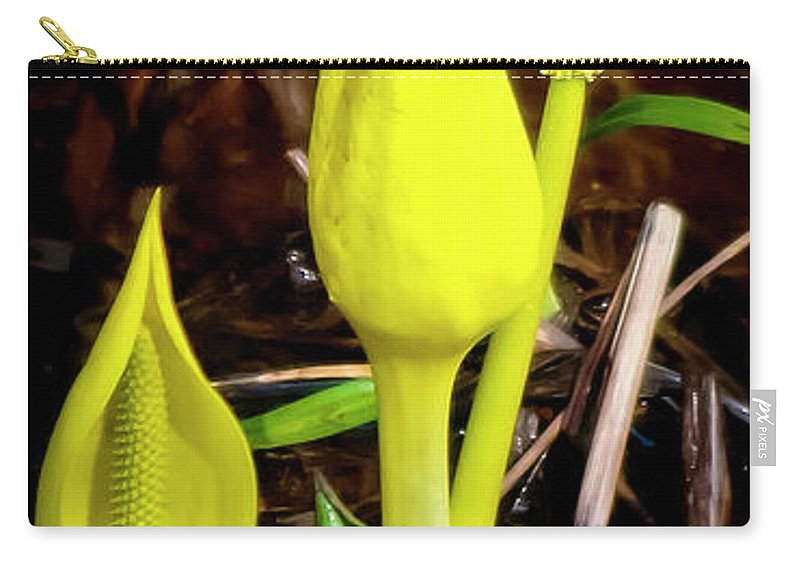 Nature Carry-all Pouch featuring the photograph Skunk Cabbage by Albert Seger