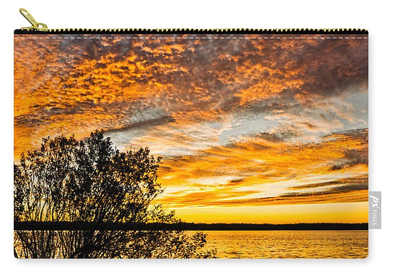 Sunset Carry-all Pouch featuring the photograph Sky Afire by Christopher Holmes