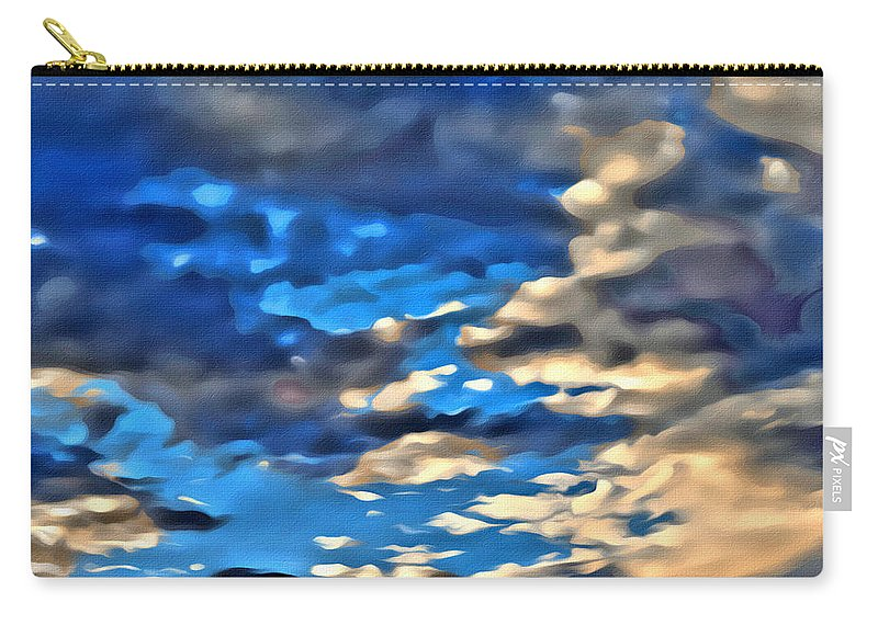 Sky Carry-all Pouch featuring the photograph Sky And Clouds by Modern Art