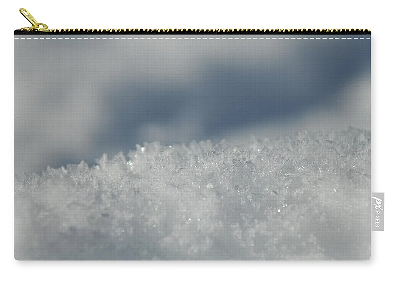 Ice Carry-all Pouch featuring the photograph Sky And Ice by Donna Blackhall
