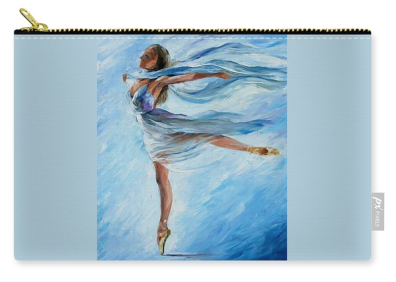 Ballet Carry-all Pouch featuring the painting Sky Dance by Leonid Afremov