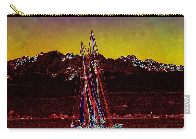 Sail Carry-all Pouch featuring the digital art Sky Diamonds by Tim Allen