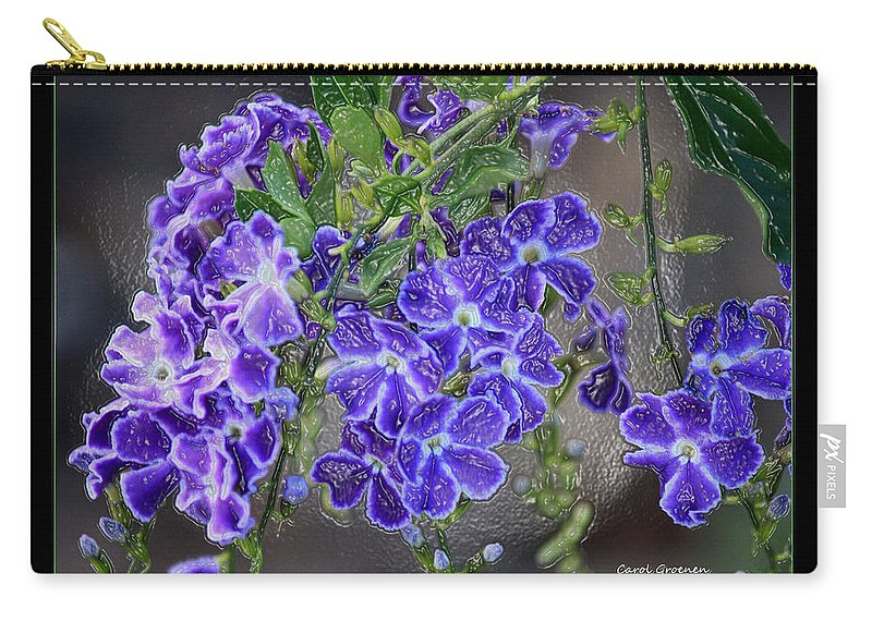 Flowers Carry-all Pouch featuring the photograph Sky Flower Window by Carol Groenen