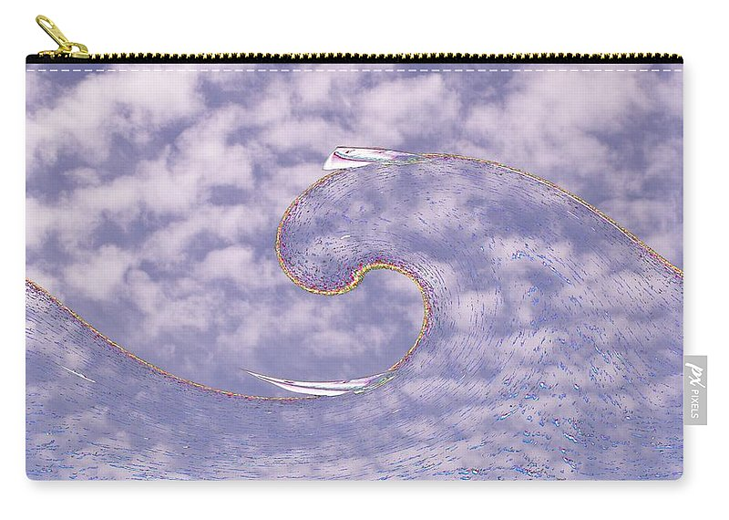Sail Carry-all Pouch featuring the photograph Sky High Sail Surfin by Tim Allen