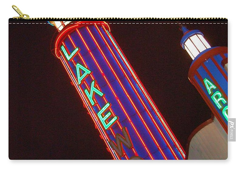 Neon Carry-all Pouch featuring the photograph Sky Lights by Debbi Granruth