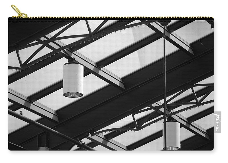 Black And White Carry-all Pouch featuring the photograph Sky Lights by Rob Hans
