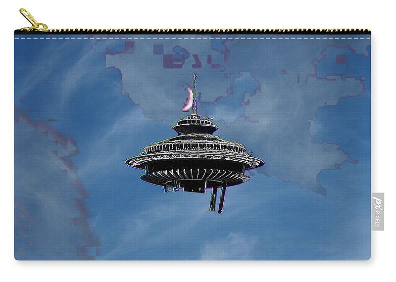 Seattle Carry-all Pouch featuring the photograph Sky Needle by Tim Allen