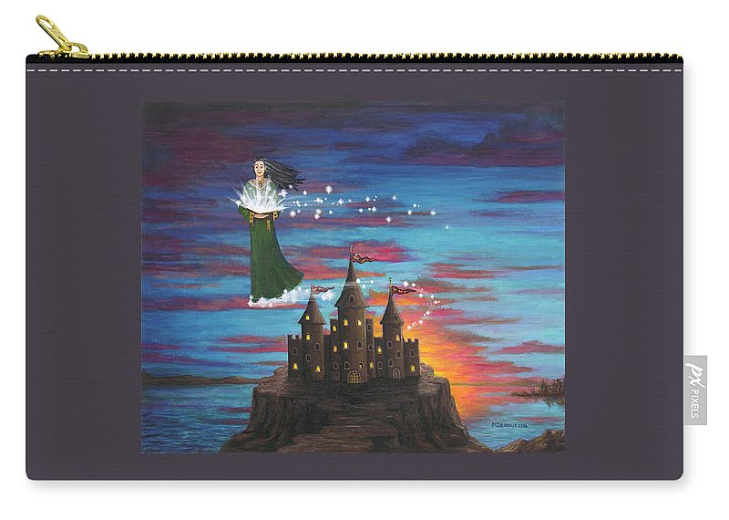 Wizard Carry-all Pouch featuring the digital art Sky Walker by Roz Eve