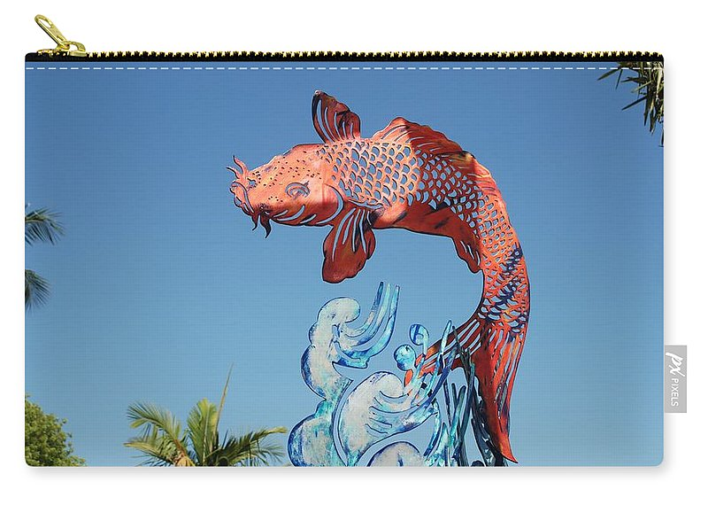 Abstract Carry-all Pouch featuring the photograph Skyfish by Rob Hans