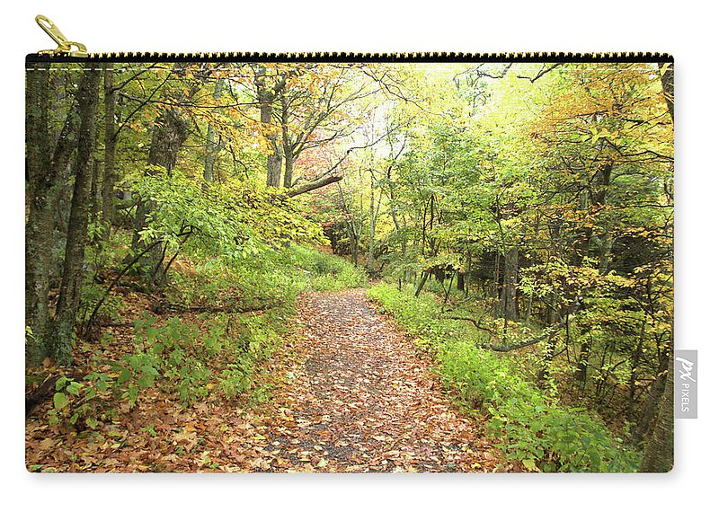 Skylands Trail Carry-all Pouch featuring the photograph Skylands Trail H by Robert McCulloch