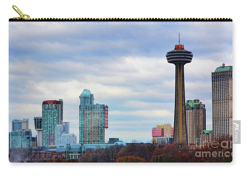 Niagara Falls Carry-all Pouch featuring the photograph Skyline Niagara by Traci Cottingham