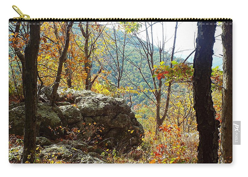 Fall Carry-all Pouch featuring the photograph Skyline Drive - 3 by Gilbert Pennison