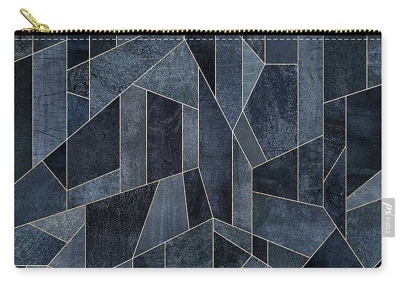 Graphic Carry-all Pouch featuring the digital art Skyscraper 1 by Elisabeth Fredriksson