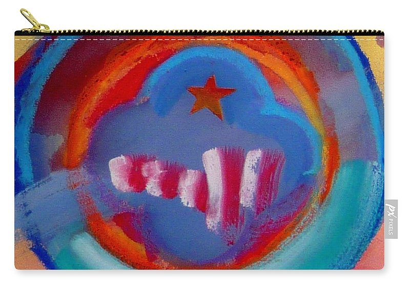 Logo Carry-all Pouch featuring the painting Skyscrapers by Charles Stuart