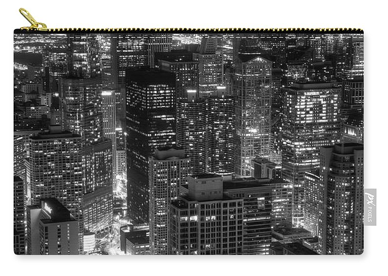 Chicago Carry-all Pouch featuring the photograph Skyscrapers Of Chicago by Daniel Hagerman