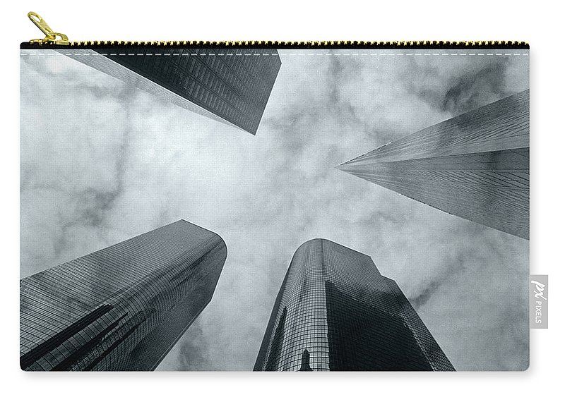 Skyscrapers Carry-all Pouch featuring the photograph Skyscrapers by Steve Williams