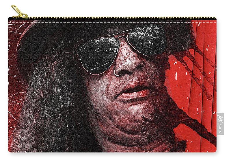 Slash Carry-all Pouch featuring the digital art Slash by Mal Bray