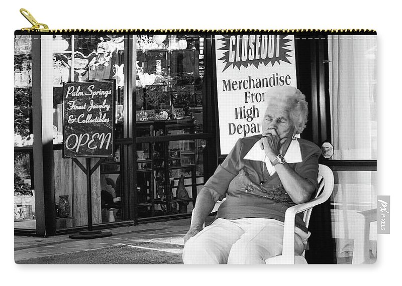 Downtown Ps Carry-all Pouch featuring the photograph Sleeper by William Dey