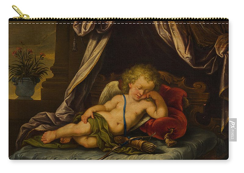 Anonymous Carry-all Pouch featuring the painting Sleeping Cupid by Anonymous