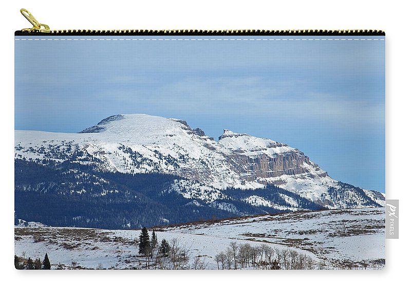Mountain Carry-all Pouch featuring the photograph Sleeping Indian Mountain by DeeLon Merritt