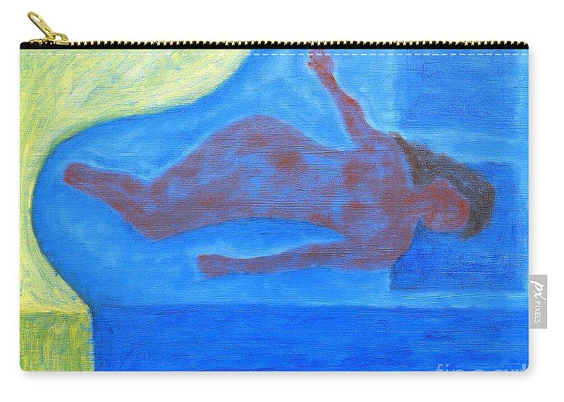 Sleeper Carry-all Pouch featuring the painting Sleeping Nude by Patrick J Murphy