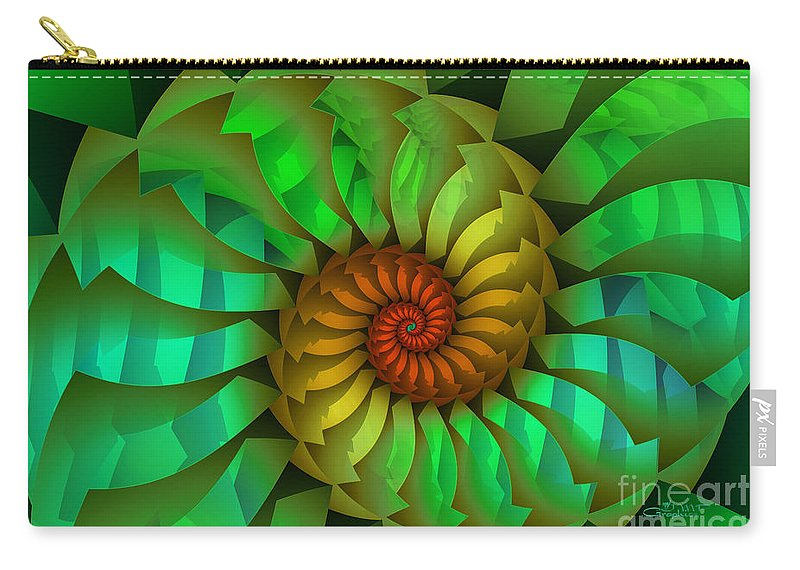 Fractal Carry-all Pouch featuring the digital art Sleeping Spring by Jutta Maria Pusl