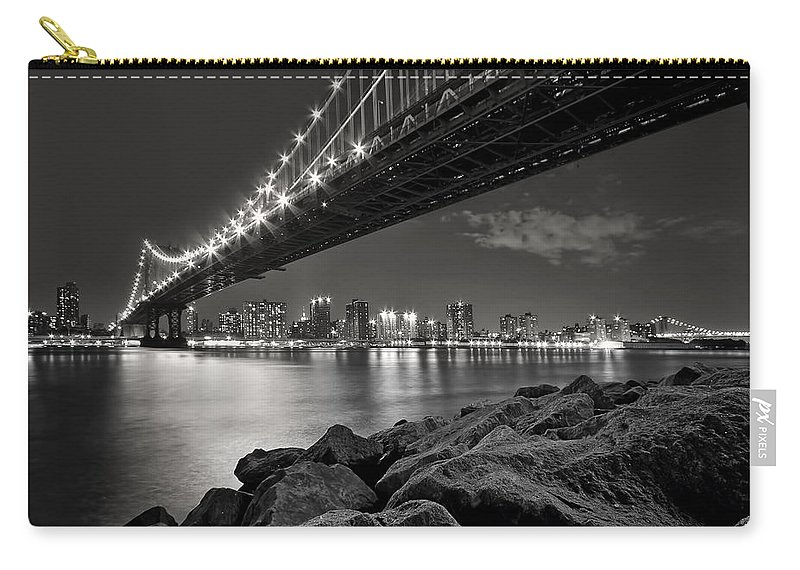 Bridge Carry-all Pouch featuring the photograph Sleepless Nights And City Lights by Evelina Kremsdorf