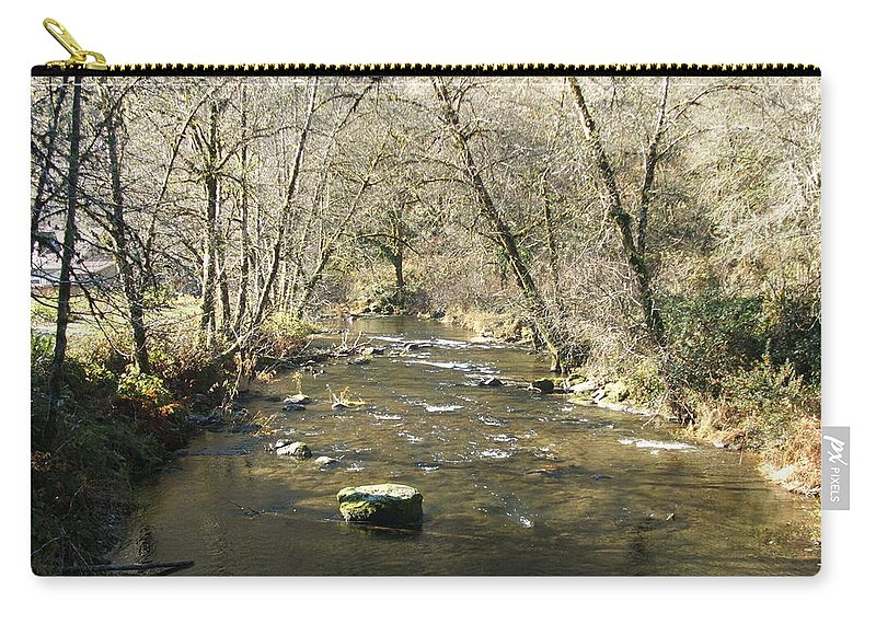 River Carry-all Pouch featuring the photograph Sleepy Creek by Shari Chavira