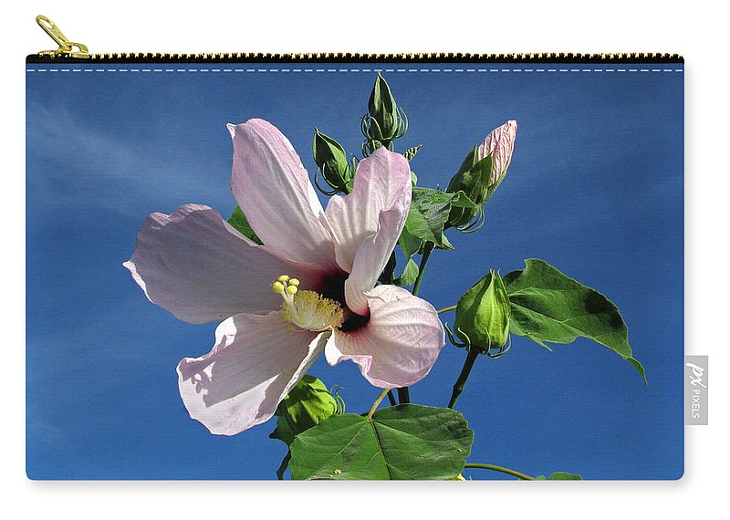 Floral Carry-all Pouch featuring the photograph Sleepy Hibiscus by Peg Urban