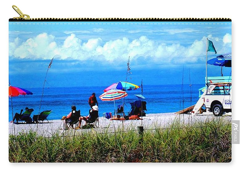 Venice Carry-all Pouch featuring the photograph Slice Of Venice Beach by Ian MacDonald